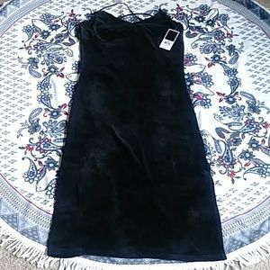 Black juicy culture velour dress
